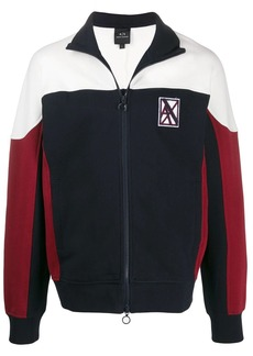 Armani Exchange logo embroidered active jacket