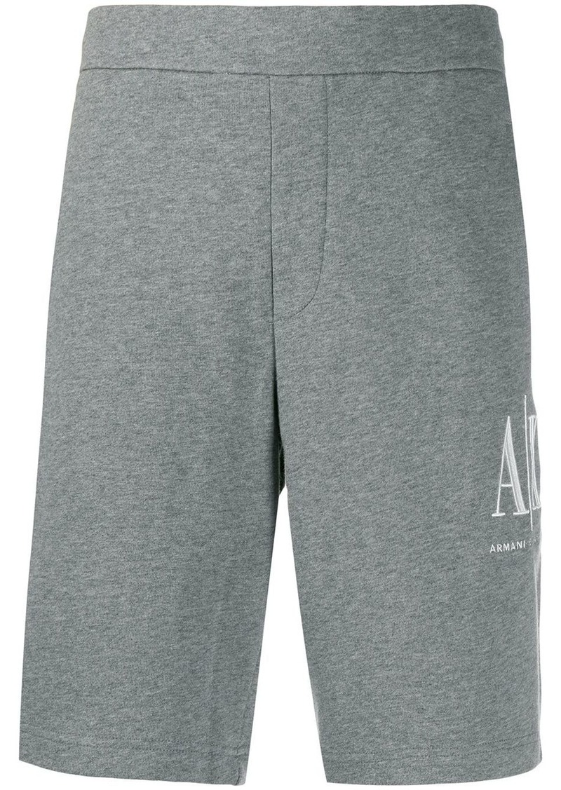 Armani Exchange logo-embroidered track shorts