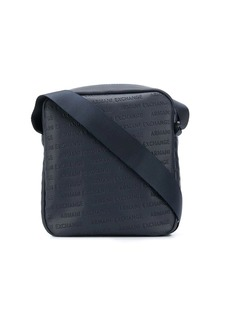 Armani Exchange logo messenger bag
