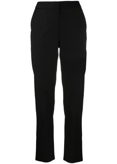Armani Exchange logo-patch cropped trousers