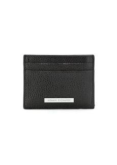 Armani Exchange logo-patch leather cardholder