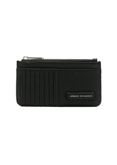 Armani Exchange logo patch long cardholder
