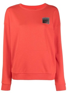 Armani Exchange logo-patch round neck sweatshirt