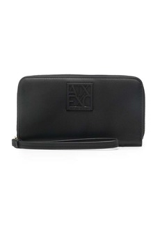 Armani Exchange logo-plaque zip-up purse