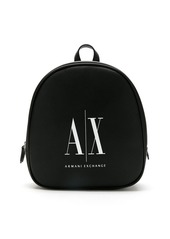 Armani Exchange logo print backpack