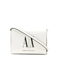 Armani Exchange logo print crossbody bag