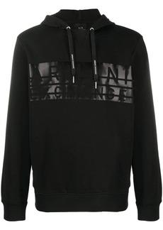 Armani Exchange logo print hoodie