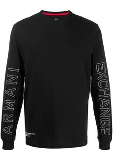 Armani Exchange logo print long-sleeve T-shirt