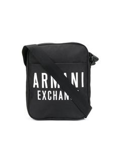 Armani Exchange logo print messenger bag