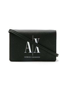 Armani Exchange logo print shoulder bag