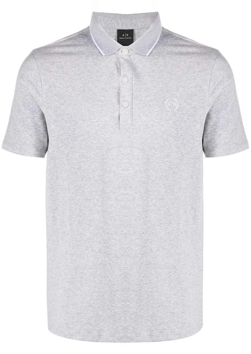 Armani Exchange logo short-sleeve polo shirt