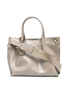 Armani Exchange logo top-handle tote