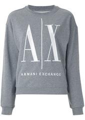 Armani Exchange logo-embroidered crew-neck sweatshirt