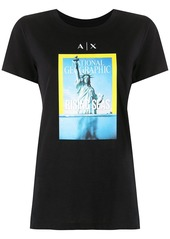 Armani Exchange National Geographic print T-shirt