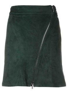 Armani Exchange off centre zipped skirt