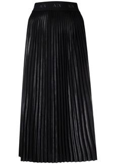 Armani Exchange plissé midi skirt