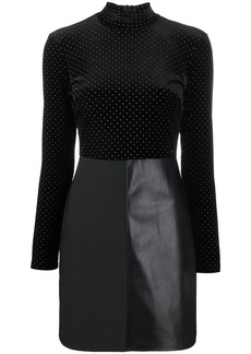 Armani Exchange polka dot fitted dress
