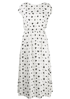 Armani Exchange printed round neck midi dress