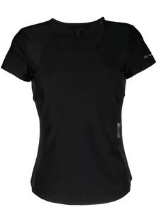 Armani Exchange sheer-panelled short-sleeved T-shirt