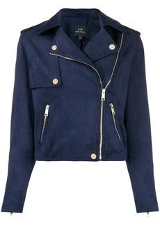 Armani Exchange short biker jacket