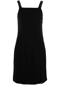 Armani Exchange square-neck sleeveless midi dress