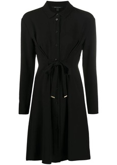 Armani Exchange tie-waist shirt dress