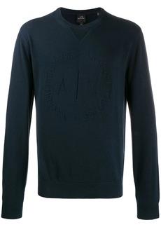 Armani Exchange tonal embroidered logo sweater