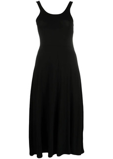 Armani Exchange U-neck sleeveless midi dress