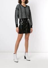 Armani Exchange wet-look mini skirt
