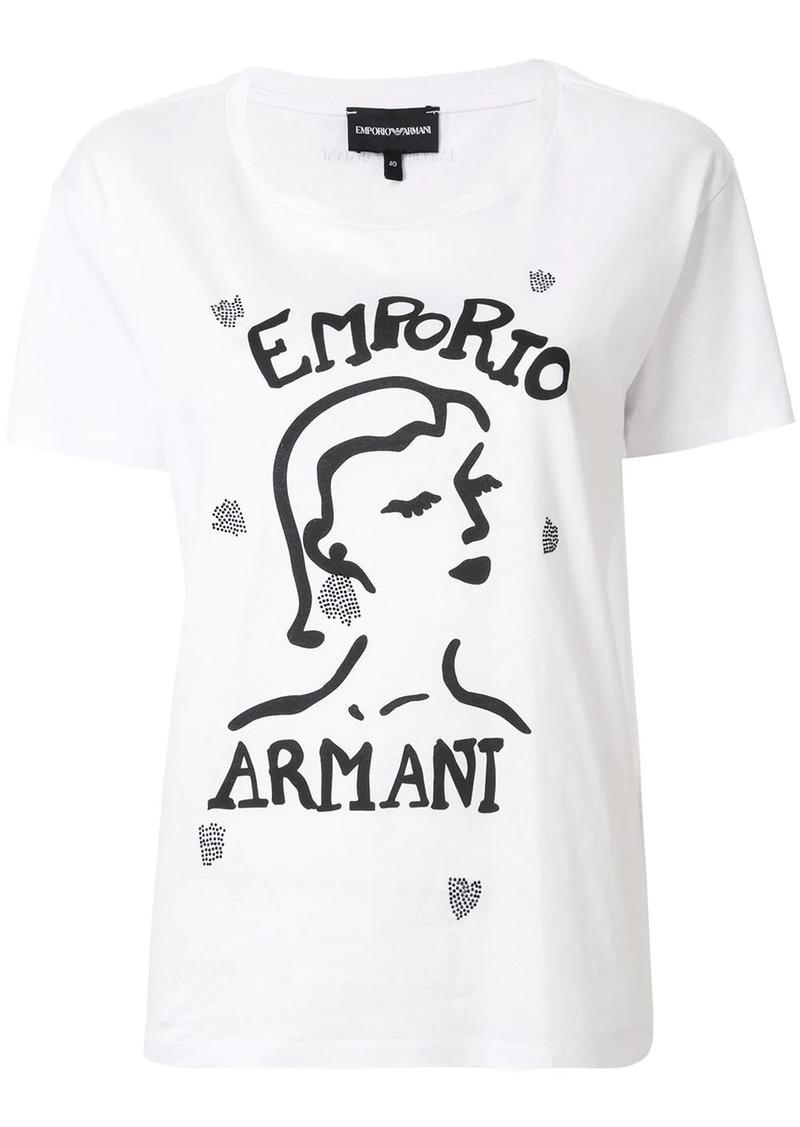 Armani face print boxy T-shirt
