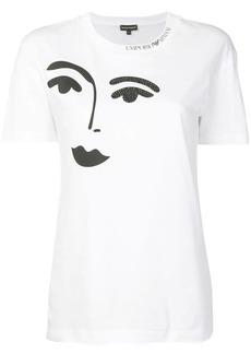 Armani face print T-shirt