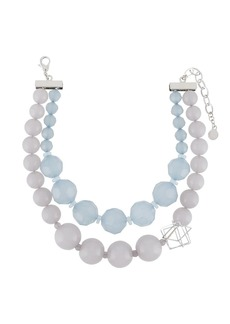 Armani faceted bead necklace