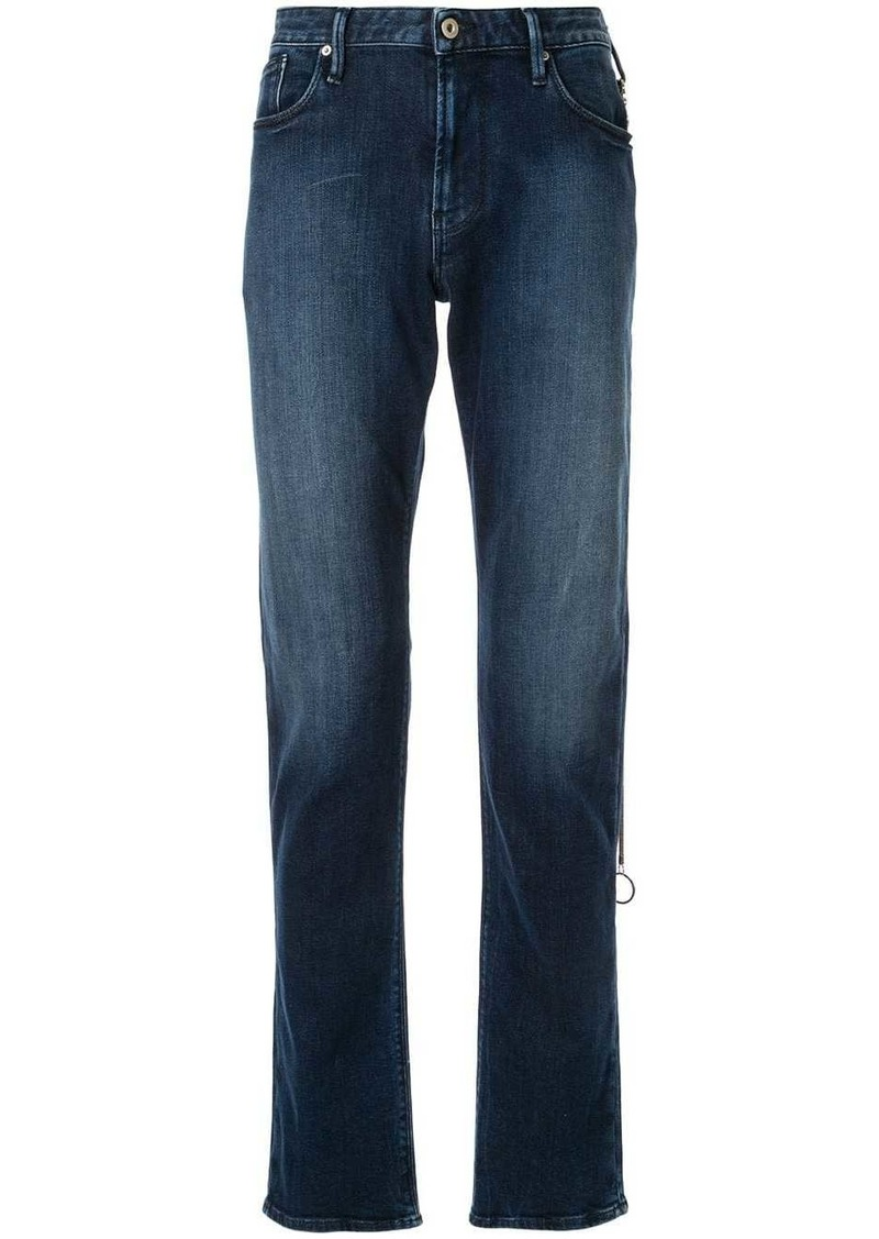 Armani faded detail jeans