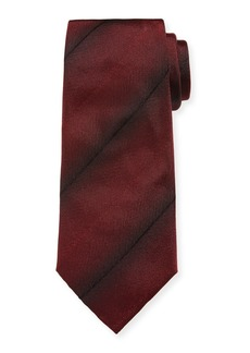 Armani Faded-Stripe Silk Tie