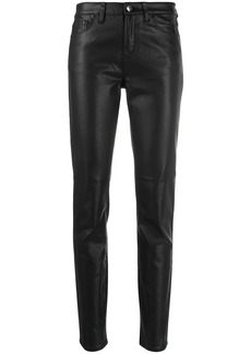 Armani faux-leather skinny trousers