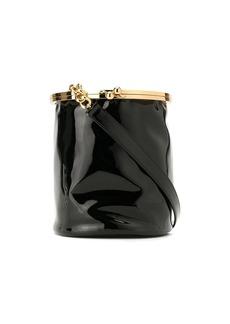 Armani faux patent leather bucket bag