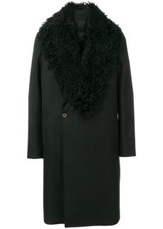 Armani faux shearling-collar coat