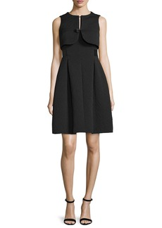 Armani Faux-Vest Fit-&-Flare Dress  Black