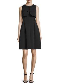 Armani Faux-Vest Fit-&-Flare Dress  Black