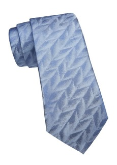 Armani Feather Jacquard Silk Tie