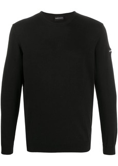 Armani fine knit round neck jumper