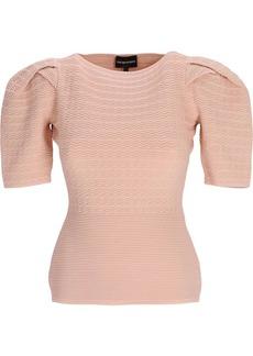 Armani fine ribbed stretch T-shirt