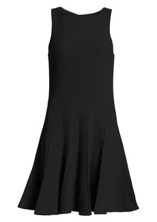 Armani Fit-&-Flare Sleeveless Wool Dress