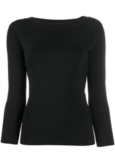 Armani fitted crew-neck jumper