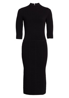 Armani Fitted Ottoman Bodycon Dress