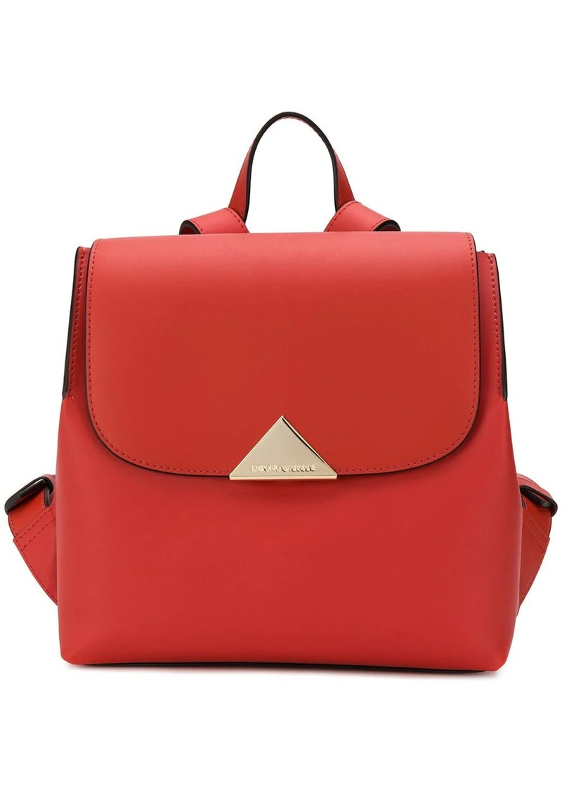 Armani flap top backpack