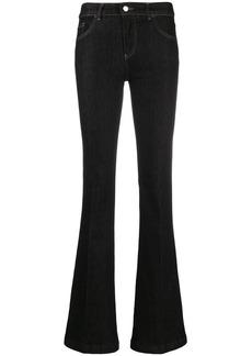 Armani flared mid-rise jeans