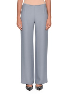 Armani Flat-Front Tech-Cady Straight-Leg Pants