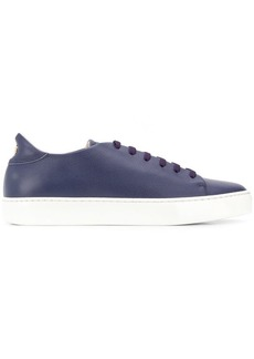 Armani flat lace-up sneakers