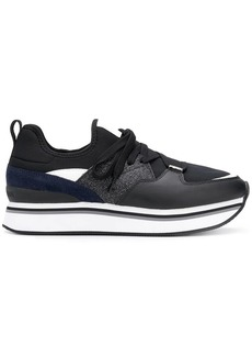 Armani flatform lace-up sneakers